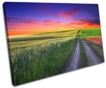 road Countryside Sunset Seascape - 13-0200(00B)-SG32-LO
